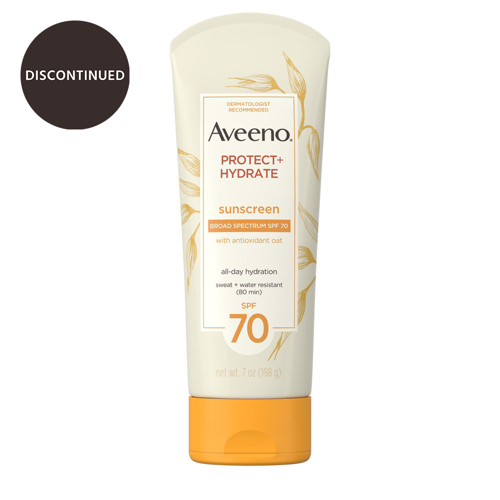 AVEENO PROTECT + HYDRATE® Lotion Sunscreen with Broad Spectrum SPF70