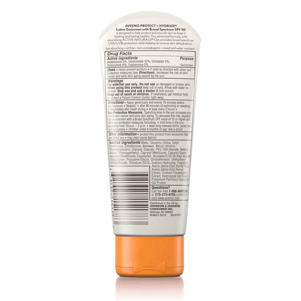AVEENO® Protect + Hydrate Lotion Sunscreen with SPF 50 para el rostro