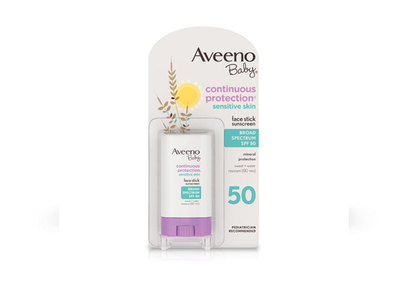 Aveeno® Baby Continuous Protection® Sensitive Skin Face Stick Sunscreen SPF 50