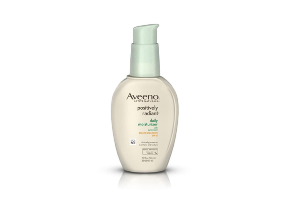 AVEENO® POSITIVELY RADIANT® Daily Moisturizer Broad Spectrum SPF 15