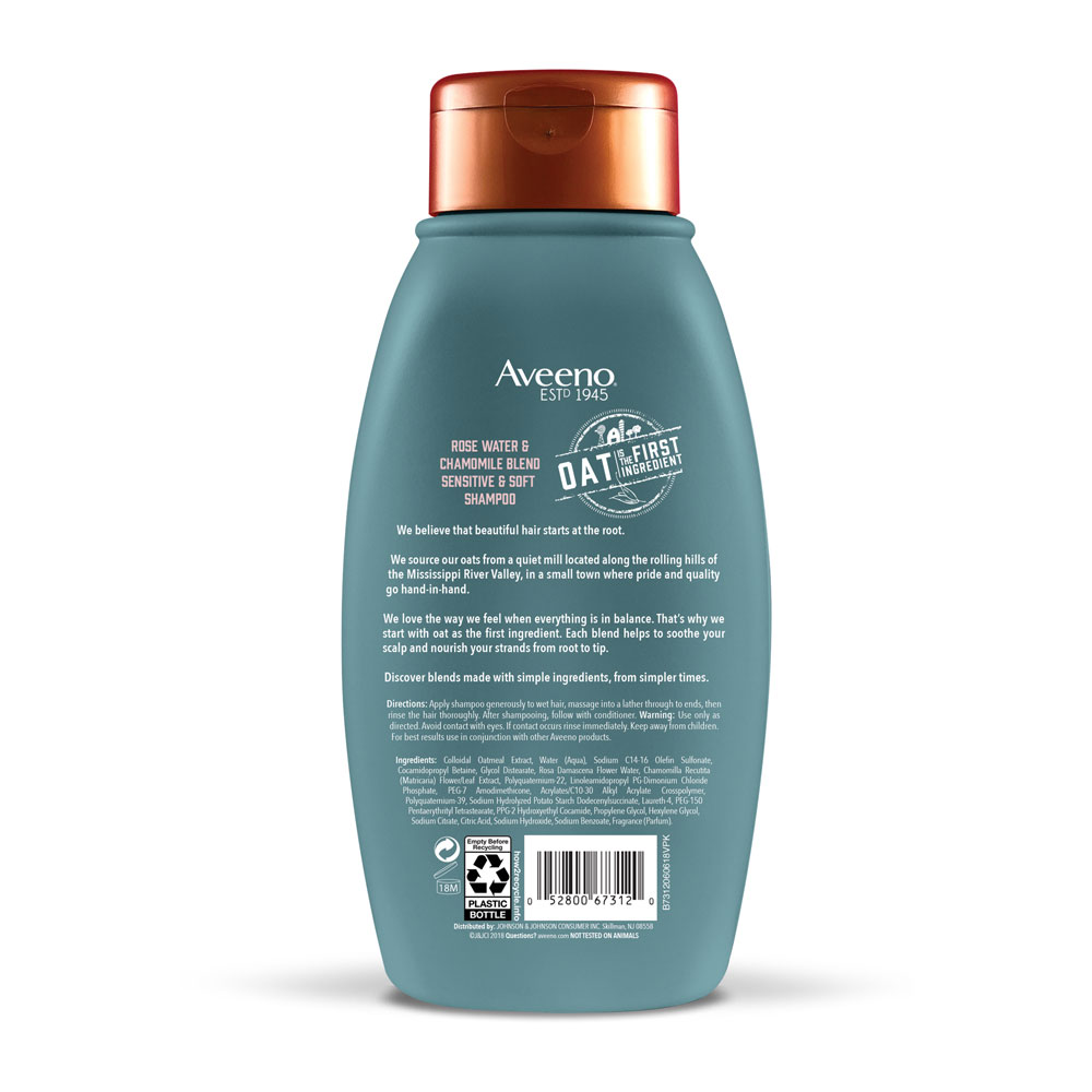 Shampoo For Sensitive Scalp With Rose Water & Chamomile