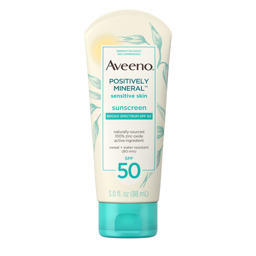 AVEENO® POSITIVELY MINERAL™  Sensitive Skin Sunscreen SPF 50