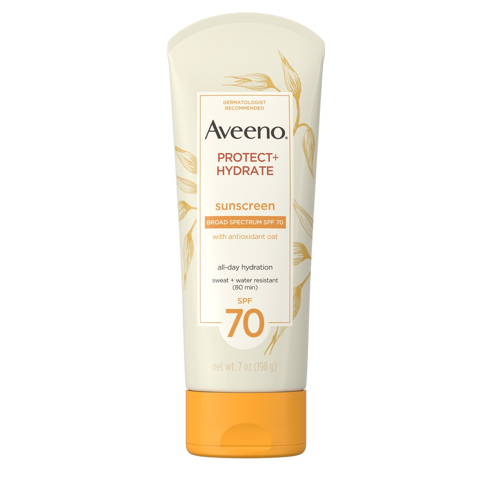 AVEENO® Protect + Hydrate Lotion Sunscreen with SPF 70