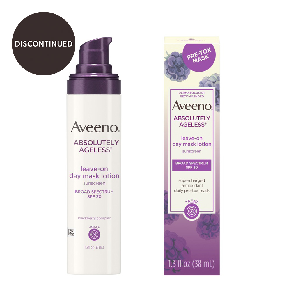 AVEENO® ABSOLUTELY AGELESS® PRE-TOX LEAVE-ON DAY MASK LOTION BROAD SPECTRUM SPF 30