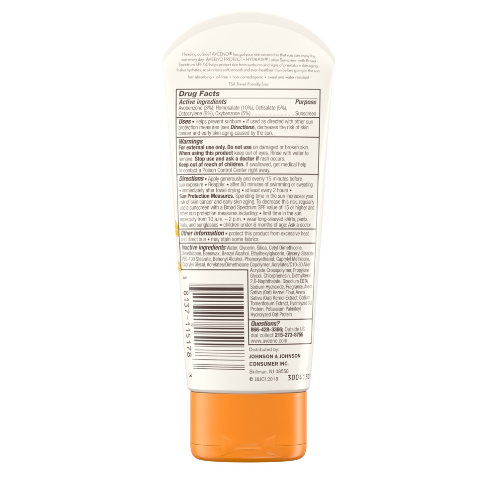 AVEENO PROTECT + HYDRATE® Lotion Sunscreen with Broad Spectrum SPF 50 For Face