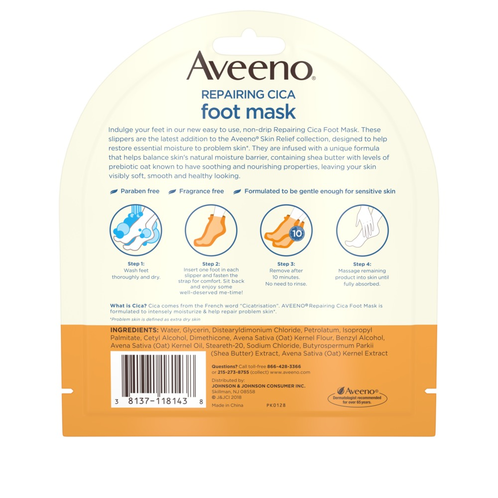AVEENO® Repairing CICA Foot Mask