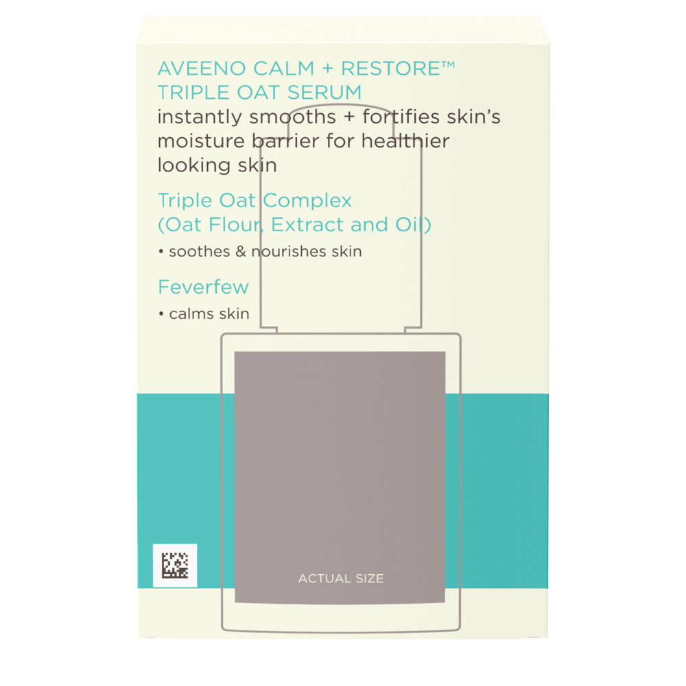 Aveeno Calm + Restore Triple Oat Serum, For Sensitive Skin Back