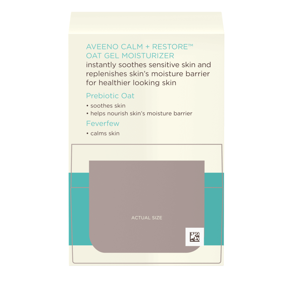 Aveeno Calm + Restore Oat Gel Moisturizer, For Sensitive Skin Back
