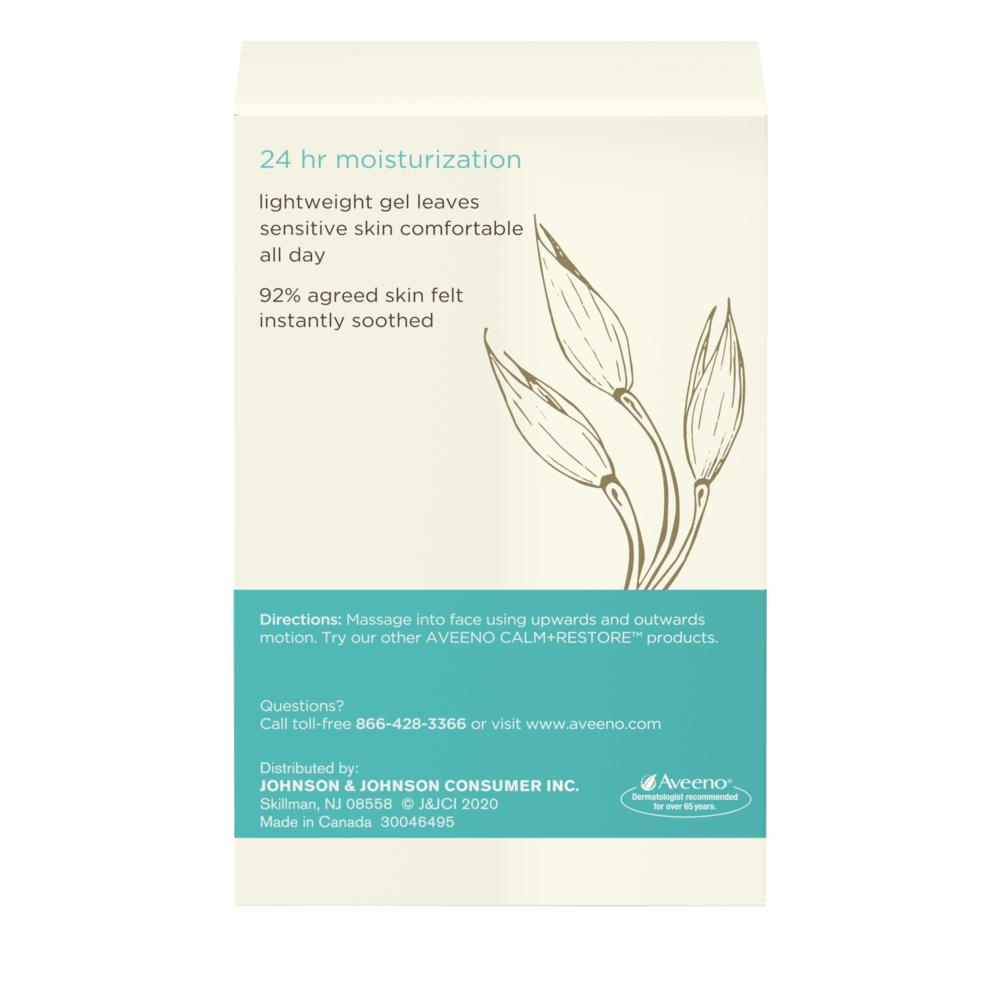 Aveeno Calm + Restore Oat Gel Moisturizer, For Sensitive Skin Side 2