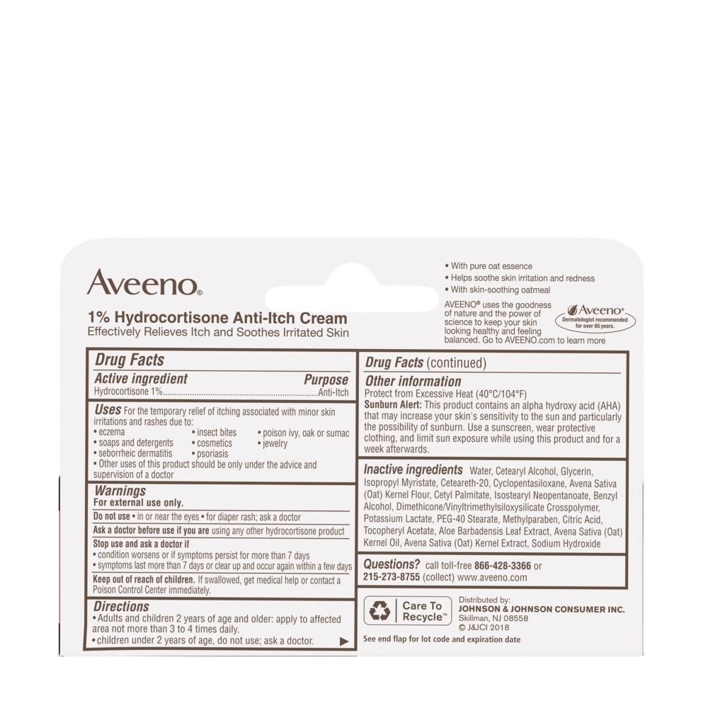 1% Hydrocortisone Anti-Itch Cream for Temporary Itch Relief