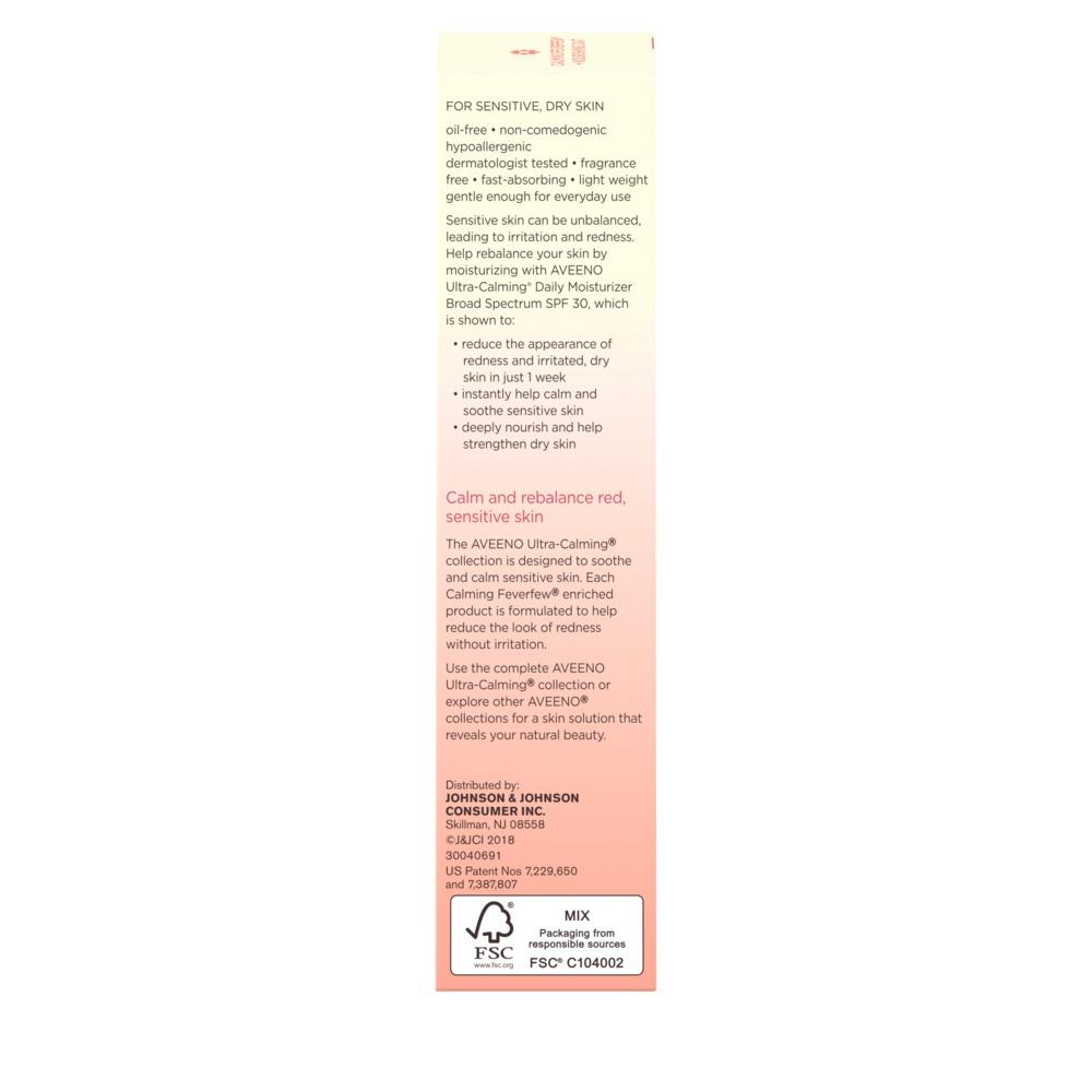 AVEENO ULTRA-CALMING® Daily Moisturizer Broad Spectrum SPF 30