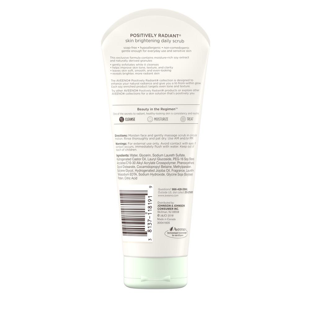 Positively Radiant Skin Brightening Daily Face Scrub Aveeno 174