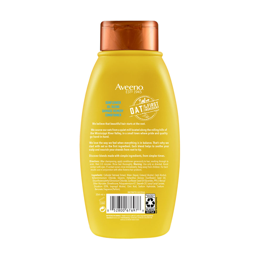 Aveeno® Sunflower Blend Conditioner Bottle Back