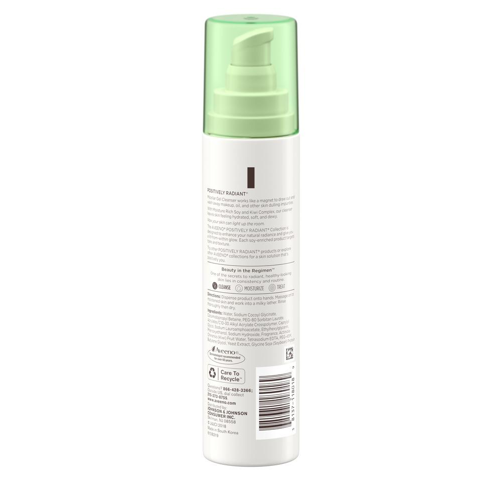 AVEENO® Positively Radiant Micellar Gel Cleanser
