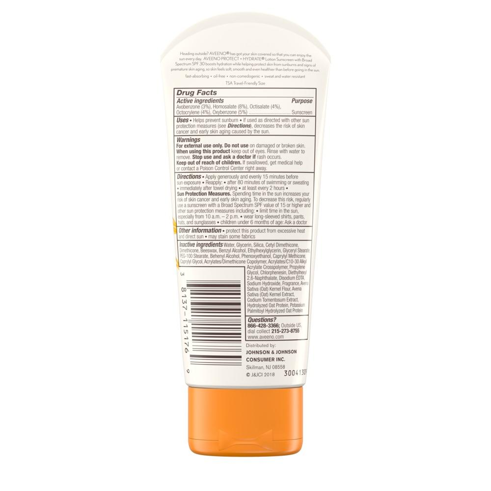 AVEENO PROTECT + HYDRATE® Lotion Sunscreen with Broad Spectrum SPF30