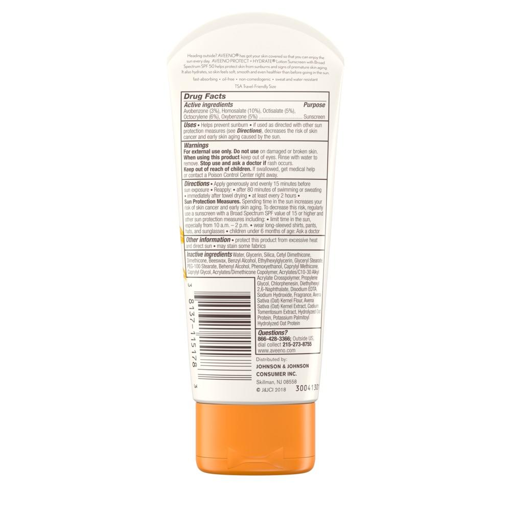 AVEENO PROTECT + HYDRATE® Lotion Sunscreen with Broad Spectrum SPF50 For Face