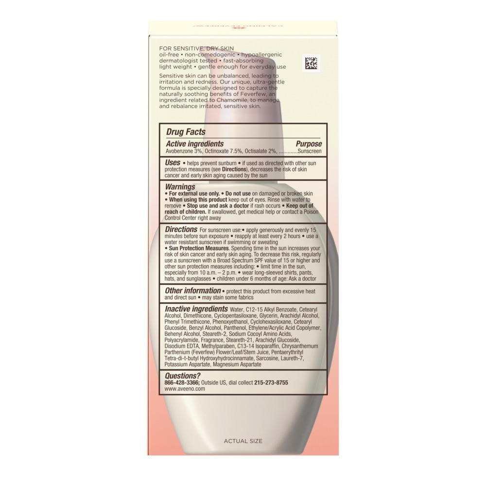 AVEENO ULTRA-CALMING® Daily Moisturizer Broad Spectrum SPF 15
