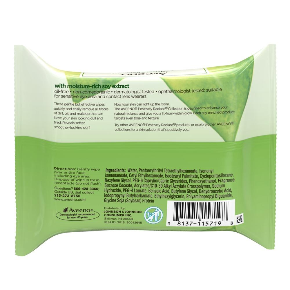 AVEENO® POSITIVELY RADIANT® Makeup Removing Wipes