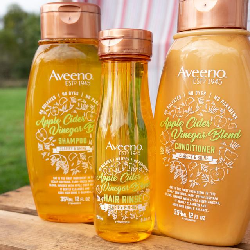 apple cider vinegar for hair by aveeno