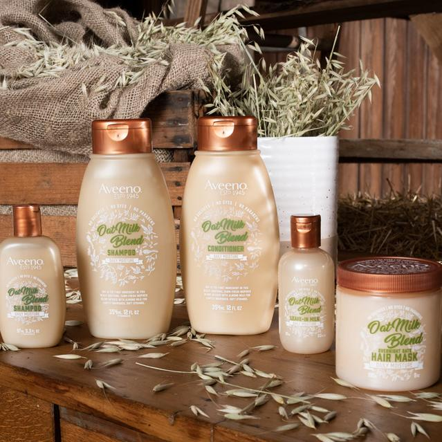 aveeno oat milk hair products for dry scalp