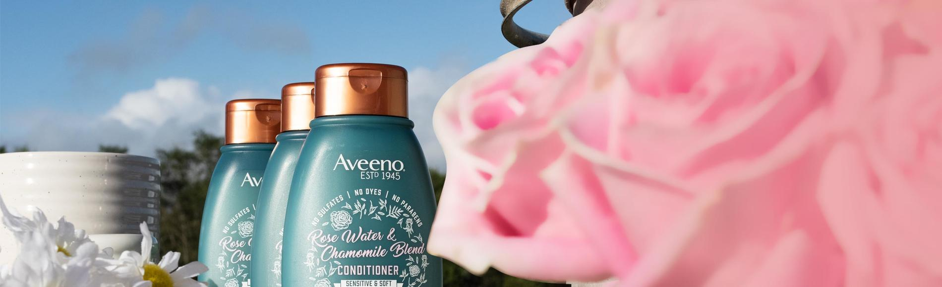 rose water and chamomile shampoo for soft hair from aveeno