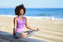 Yoga at beach