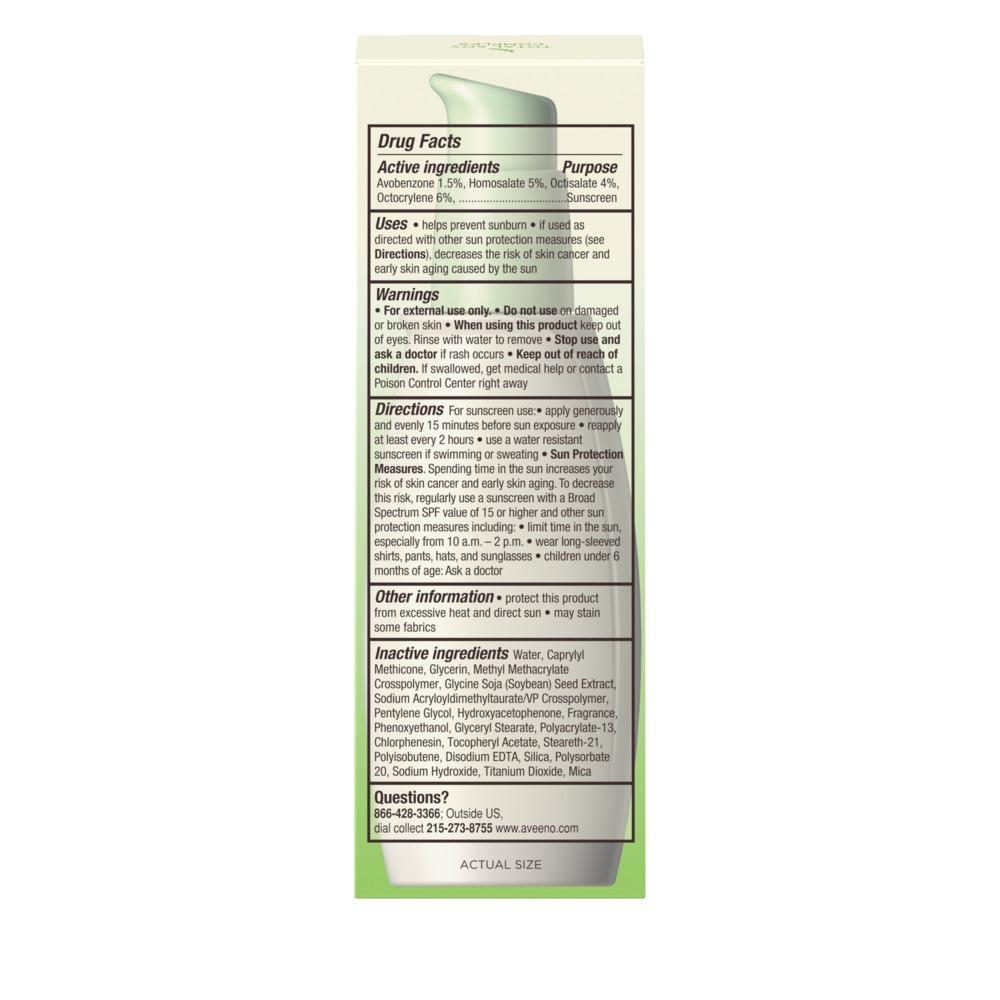 AVEENO® POSITIVELY RADIANT® Sheer Daily Moisturizer Broad Spectrum SPF 30