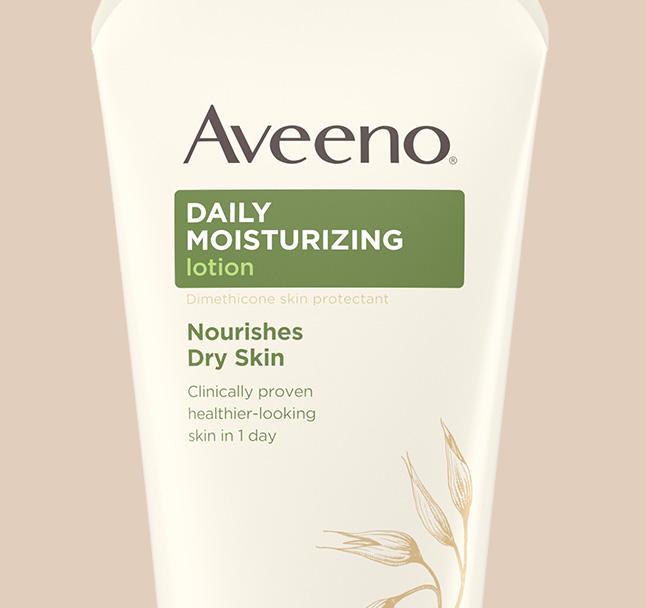 humectante diario para piel seca de la colección aveeno de lociones para el cuerpo