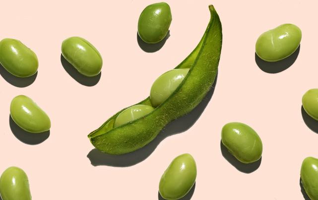 Ingredientes para el cuidado de la piel de Aveeno: soya